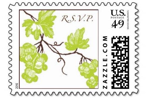 grapevine rsvp postage stamps