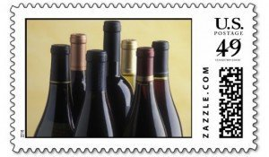 Wine Bottles Stamps