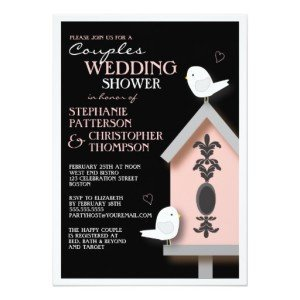 Bird Couple Damask Birdhouse Couples Shower