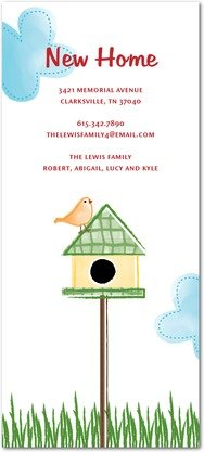Birdhouse Charm Moving Announcements
