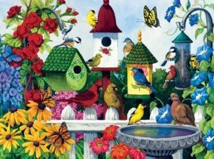 Birdhouse Heaven Jigsaw Puzzle
