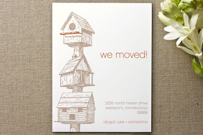 Birdhouse Moving Announcements