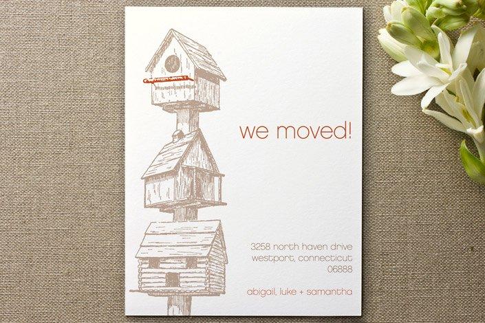 Birdhouse Moving Announcements
