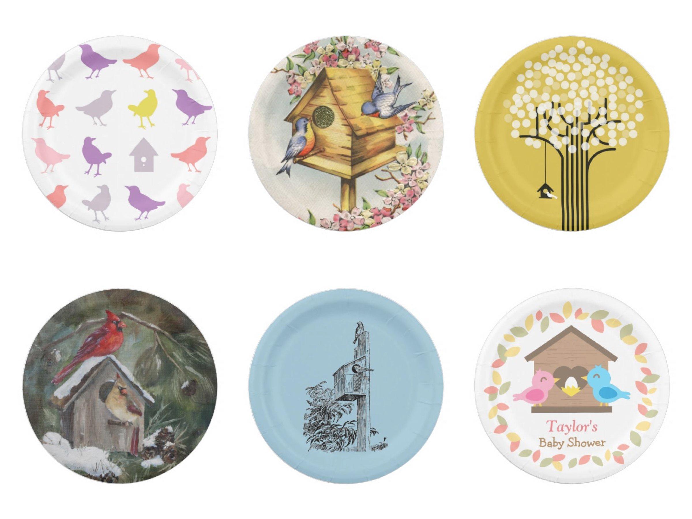 Birdhouse Paper Plates
