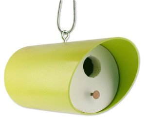 Retro Lime Bungalow Bird House
