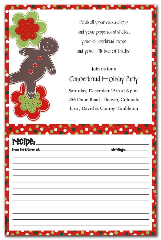 Cookie Card Gingerbread Holiday Invitation