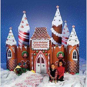 Frosted Holiday Castle