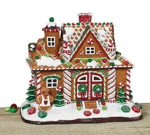Gingerbread Man Christmas House That Lights Up