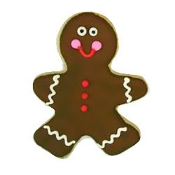 Gingerbread Man Holiday Cookie Party Favor