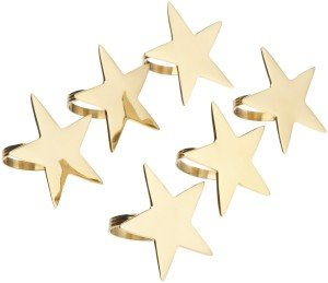 Gold finish 5-Point Star Napkin Ring