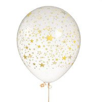 Gold Star Latex Balloons