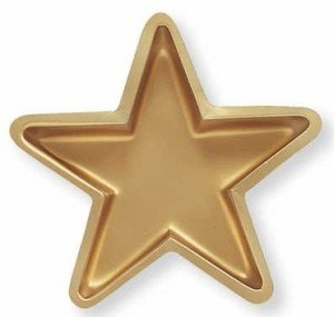 Gold Star Shaped Serving Tray