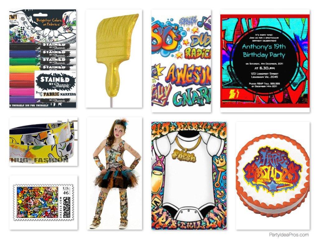 Graffiti Theme Party Planning, Ideas & Supplies