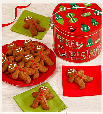 Merry Christmas Gingerbread Man Cookies