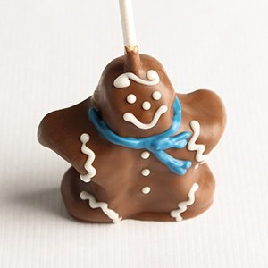Mini Holiday Gingerbread Man Brownie Favor Pop