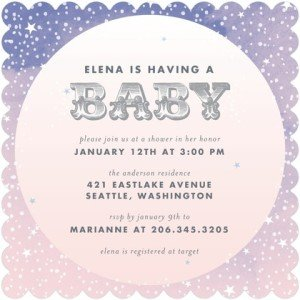 STARLIGHT STARBRIGHT Baby Shower invitation