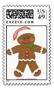 Santa Gingerbread Man Postage