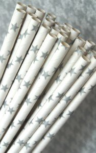Silver Star Paper Drinking Straws