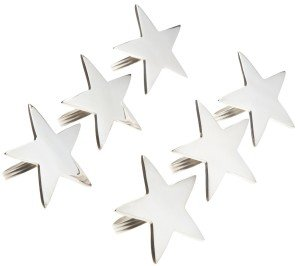 Silver finish 5-Point Star Napkin Ring