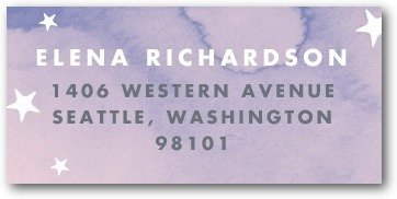 Starlight Starbright Return Address Labels