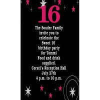 Sweet Sixteen Star Invitation
