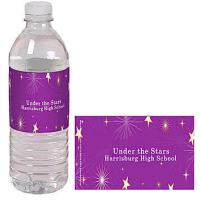 TWINKLE STARS PERSONALIZED WATER BOTTLE LABELS