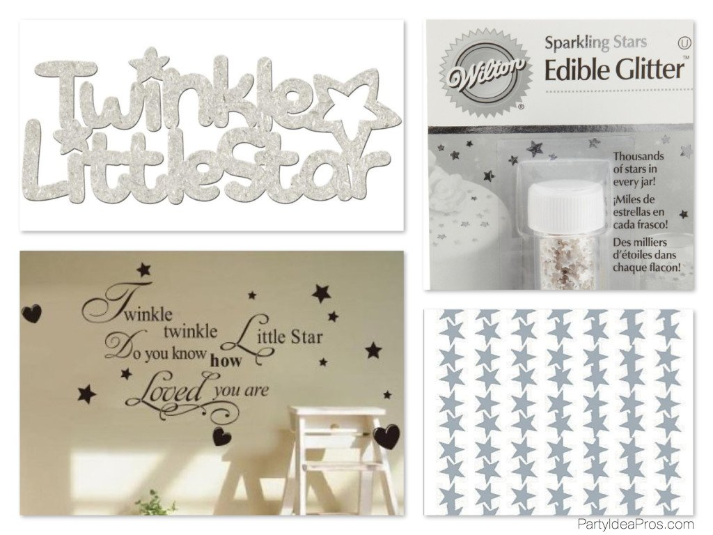 Twinkle Twinkle Little Star Party Supplies, Decor & Edibles