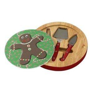 gingerbread boy cheese board