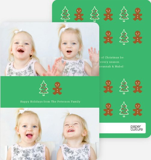 gingerbread man holiday photo cards