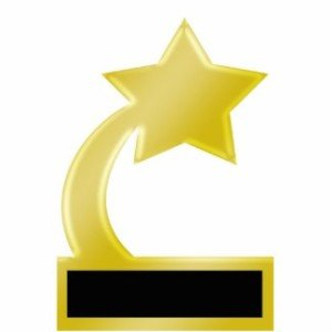gold star award trophy photo cut out centerpiece