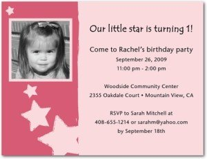 little superstar birthday party invitations