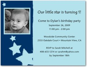 little superstar photo birthday party invitations