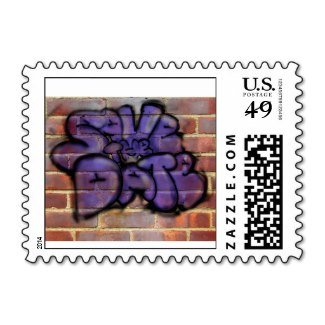 save the date graffiti postage