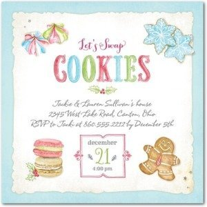 sugary swap holiday party invitations