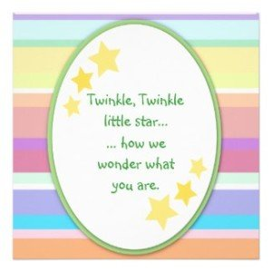 twinkle little star invitations