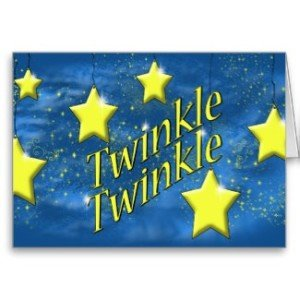 twinkle twinkle little star greeting cards