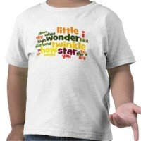 twinkle twinkle little star word art t-shirt