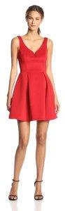 Ali Ro Women's Sleeveless Deep-V Flare Dress