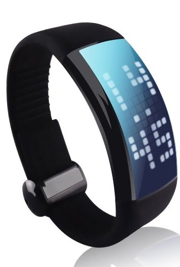 CIYOYO LED Smart Watch Bracelet 3D Sports Pedometer Calorie Counters 16GB USB Flash Drive Color Black with Free Screen Protector