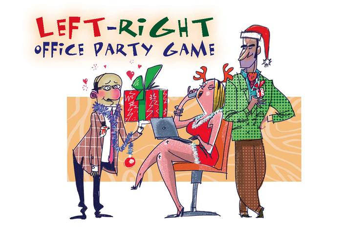 Left-Right Office Party Printable Christmas Game