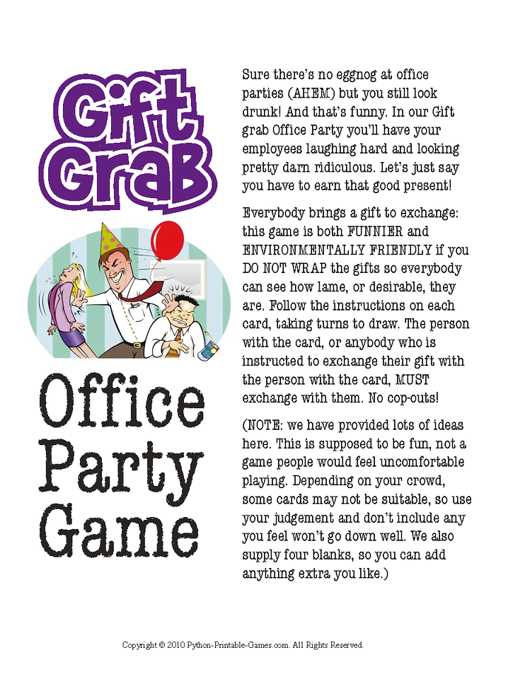 free christmas office games