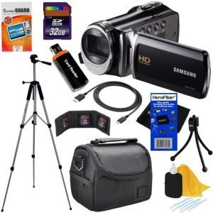 Samsung HMX-F90 Black Camcorder with 2.7 LCD Screen and HD Video Recording