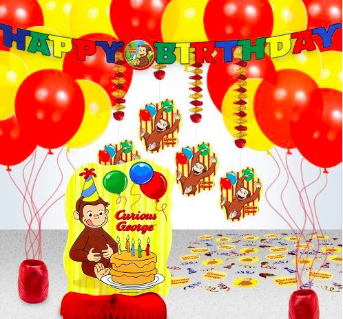 Curious George Birthday Decoration Kit