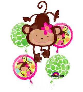 Floral Monkey Balloon Bouquet