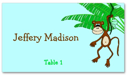 Monkey Place Card