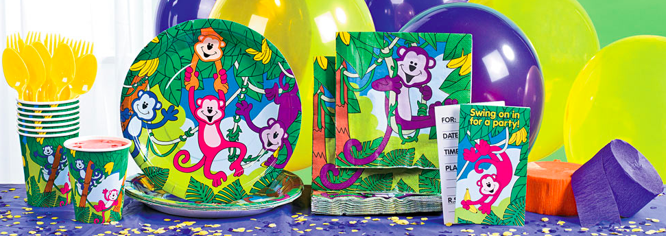 Neon Monkey Party Supplies