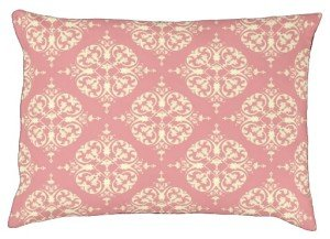 Pink and Cream Damask Dog Bed, Valentine's Day Gifts for the Special Dog in Your Life