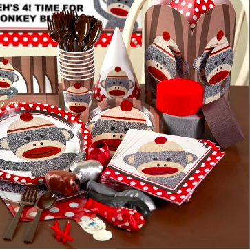 Red Sock Monkey Party