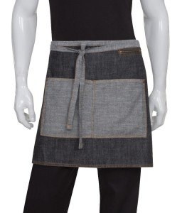 Black Manhattan Half Bistro Apron
