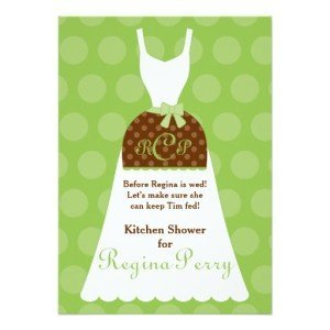 Bridal Kitchen Shower- Lime Apron Gown